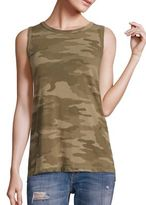 Current/Elliott Cotton Camo Muscle Tee
