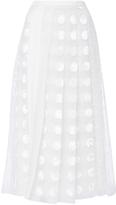 Rochas Crepe De Chine Polka Dot Skirt