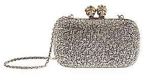 Alexander McQueen Women's Queen & King Swarovski Crystal-Embellished Leather Clutch