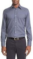 Canali Men's Trim Fit Mini Medallion Sport Shirt