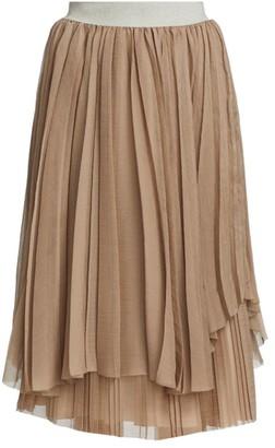 Fabiana Filippi Pleated Chiffon Skirt