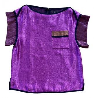 Louis Vuitton Purple Silk Tops