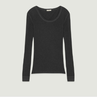 American Vintage Anthracite Cotton Long Sleeves Rizalay T-Shirt - cotton | anthracite | small