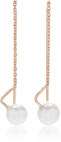 White/Space 14K Gold Pearl Earrings