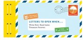 Chronicle Books 'Letters To Open When - A Paper Time Capsule' Book