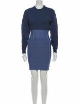 Thumbnail for your product : Herve Leger Colorblock Pattern Mini Dress Blue