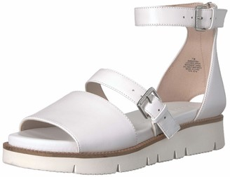 Nine West Women's SATORIA Leather Flat Sandal