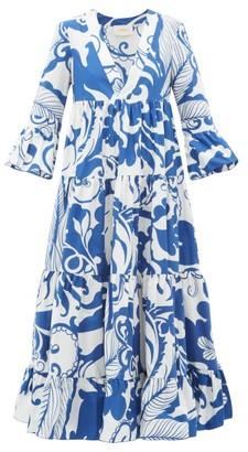 La DoubleJ Jennifer Jane Printed Cotton Dress - Womens - Blue White