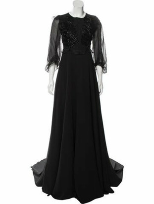 Andrew Gn 2018 Long Dress w/ Tags Black