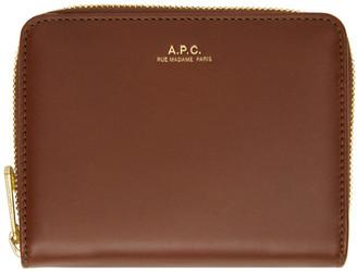 A.P.C. Brown Emmanuelle Compact Wallet