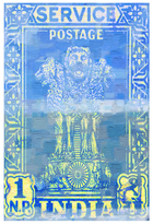 Parvez Taj India Postage by Canvas)