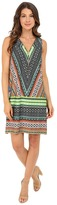 Christin Michaels Venice Zip Front Tank Dress