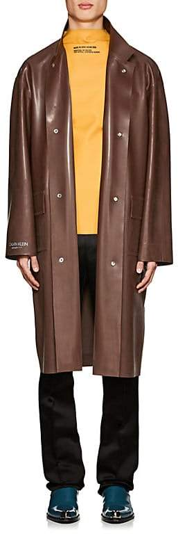 Calvin Klein Men's Rubber Trench Coat