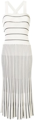 Alexis Knitted Striped Pattern Dress