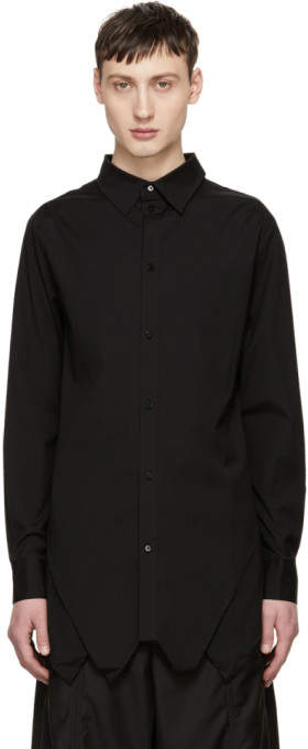 D.gnak By Kang.d Black Front Pointed Shirt