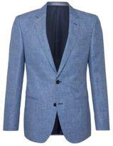 Hugo Boss T-Hale Slim Fit, Italian Linen Cotton Sport Coat 40R Blue