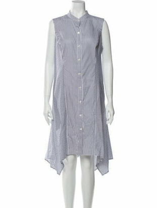 Donna Karan Striped Knee-Length Dress w/ Tags White