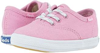 Keds Kids Champion Crib (Infant/Toddler) (Pink Canvas) Girl's Shoes