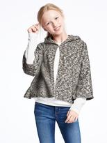 Old Navy Hooded Sweater-Knit Cape for Girls