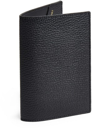 Harrods Grained Leather Passport Cover