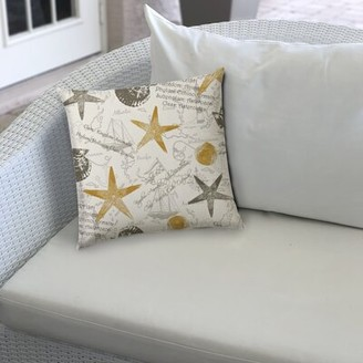 Highland Dunes Watford Indoor/Outdoor 0.25'' Throw Pillow Cover Color: Beige/Gray