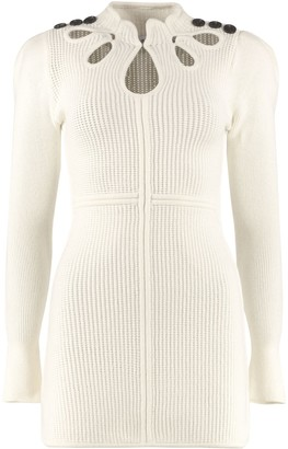Self-Portrait Ribbed Knit Sheath Dress