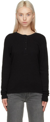 RE/DONE Black Hanes Edition Thermal Henley