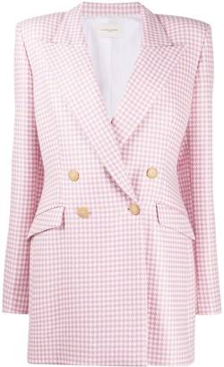 Giuseppe di Morabito Houndstooth-Print Double-Breasted Blazer