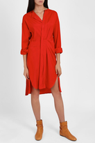Isabel Marant Dias Silk Wrap Shirt Dress