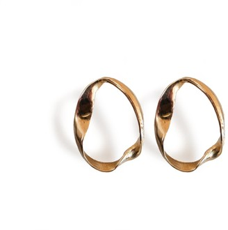 Be. Alice The Shape Of Water Bronze Circular Shaped Stud Earrings