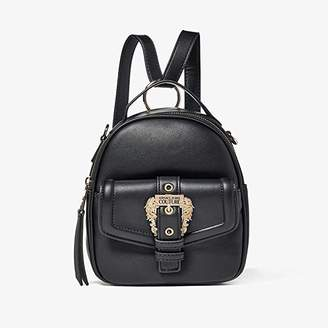 Versace Eco Leather Gold Buckle Backpack (Black) Backpack Bags