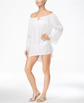 Raviya Lace-Trim Peasant Dress Cover-Up