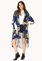 FOREVER 21 Whimsical Floral Kimono