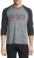"John Varvatos Aerosmith"" Graphic Raglan-Sleeve T-Shirt, Gray"