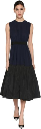 DELPOZO Ruffled Silk Georgette Midi Dress
