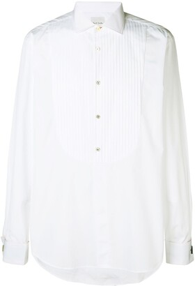 Paul Smith pleated long-sleeve shirt