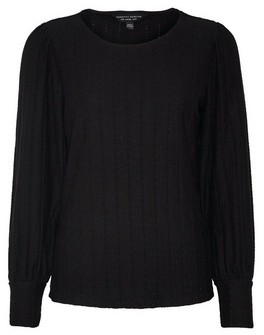 Dorothy Perkins Womens Black Textured Top, Black