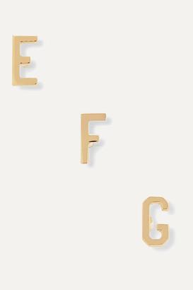 STONE AND STRAND Alphabet 14-karat Gold Earring