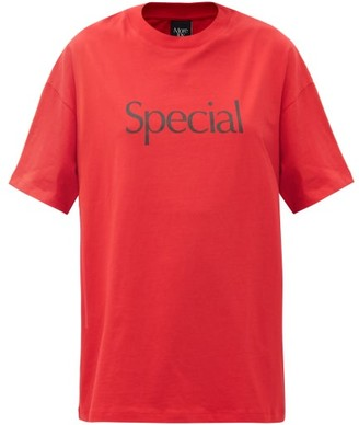 More Joy By Christopher Kane - Special-print Cotton-jersey T-shirt - Red