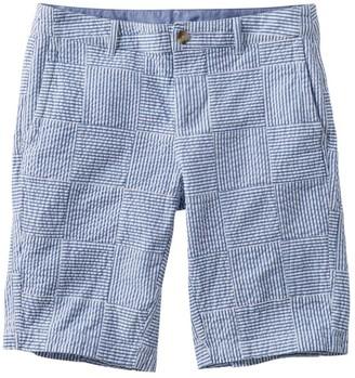 L.L. Bean Women's Washed Chino Bermuda Shorts, Seersucker Patchwork