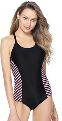 Marina Threads Women's Athletic One Piece Swimsuit Sport Swimwear