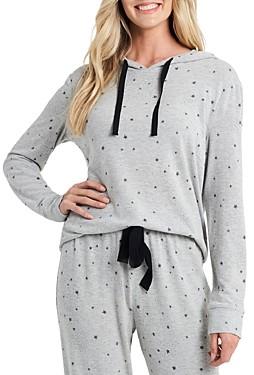 CeCe Star Knit Pullover Hooded Sweatshirt