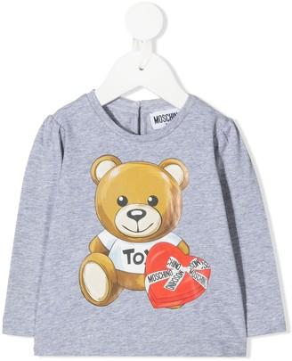 MOSCHINO BAMBINO Logo Print Crew Neck Sweatshirt