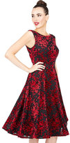 Betsey Johnson Falling In Love Burnout Velvet Dress