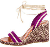 Marc Jacobs Satin Lace-Up Wedge Sandals w/ Tags