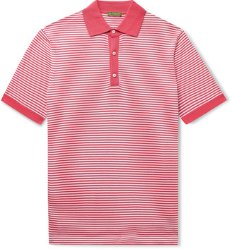 Sid Mashburn - Striped Cotton Polo Shirt - Men - Red