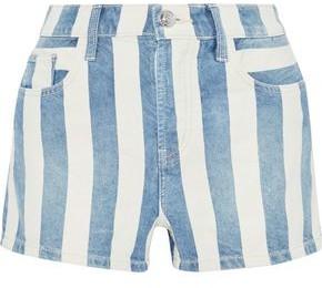 Current/Elliott The Westside Striped Denim Shorts