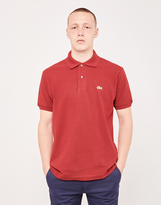 Lacoste Short Sleeve Polo Shirt Burgundy