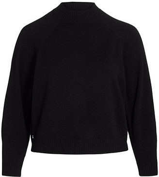 Lafayette 148 New York, Plus Size Round-Sleeve Cashmere Pullover