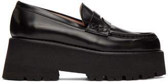 MSGM Black Platform Loafers